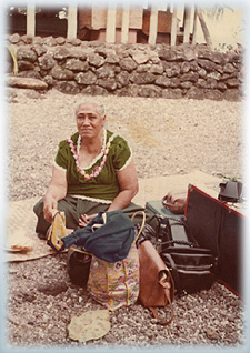 Mom Solomuli on her trip to Upolu
